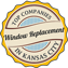Badge certifying that Precision Windows and Doors is one of the top window replacement companies in Kansas City